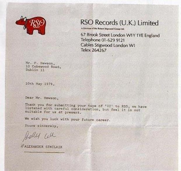מכתב הדחייה של U2