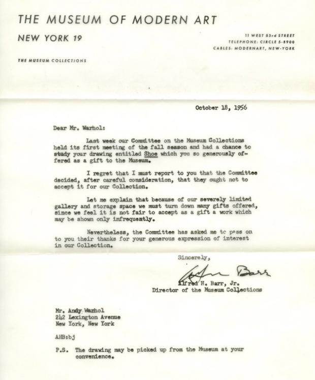 מכתב הדחייה של אנדי וורהול